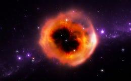 Illustration of the supernova explosion Royalty Free Stock Photo