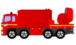 Fire fighting support vehicles vector illustration