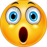 Surprised emoticon smiley Royalty Free Stock Photo