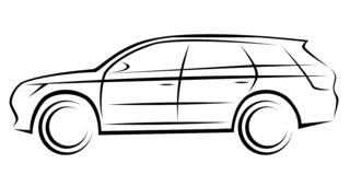 Illustration of a SUV car with a dynamic silhouette vector illustration