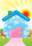 Illustration of Sweet Home stock images
