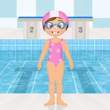 Swimming lessons for children Stock Images