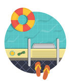 Illustration - a swimming pool, a top view. Royalty Free Stock Photography
