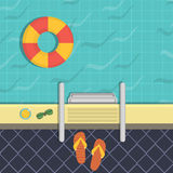 Illustration - a swimming pool, a top view. Royalty Free Stock Image