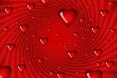Illustration swirls of hearts Royalty Free Stock Photos