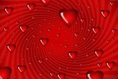 Illustration swirls of hearts Royalty Free Stock Photos