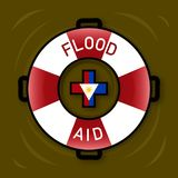 Illustration of symbol for Flood Aid. Stock Photo