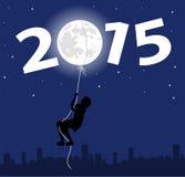 Illustration symbolique pendant la nouvelle année Photo stock