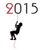 Illustration symbolique pendant la nouvelle année Photos stock