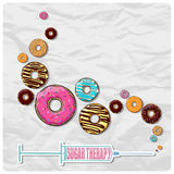 Illustration with syringe with donuts. Royalty Free Stock Photography