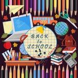 Illustration_3_on szkolny temat, projekt szkolni tematy Obrazy Royalty Free