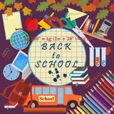 Illustration_2_on szkolny temat, projekt szkolni tematy Zdjęcie Stock