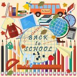 Illustration_1_on szkolny temat, projekt szkolni tematy Fotografia Stock
