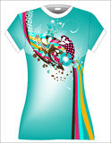 Illustration T Shirt Design. Vector T shirt design with colorful illustration Stock Images