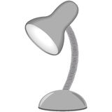 Illustration of table lamp, grey color, an white background Royalty Free Stock Images