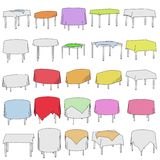 Illustration of table with tableclothes Stock Photos