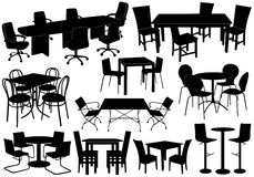 Illustration Of Tables And Chairs Stock Photos