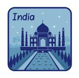 Illustration with Taj Mahal in India Royalty Free Stock Photos