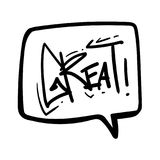 Talk Bubble Doodle Sketch Vector Graphic Royalty Free Stock Images