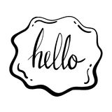 Talk Bubble Doodle Sketch Vector Graphic Royalty Free Stock Photo