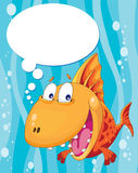 Talking fish. Illustration of a talking fish Royalty Free Stock Photo