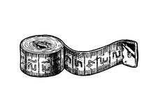 Illustration of tape measure Royalty Free Stock Photos