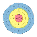 Illustration of a target. Stock Image