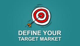Concept of target market. Illustration of a target market concept Stock Photos