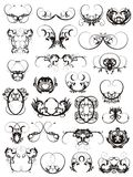 Illustration of tattoo design elements Royalty Free Stock Photography