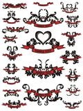 Illustration of tattoo design elements Royalty Free Stock Image