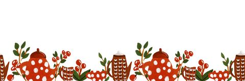 Illustration of tea time vector illustration