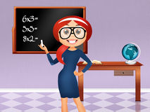 Illustration of a teacher. Illustration of a girl teacher Royalty Free Stock Images