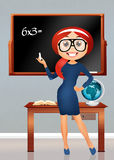 Illustration of a teacher. Illustration of a girl teacher Stock Photo