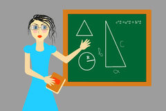 Illustration of teacher Stock Photography