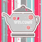 Illustration with teapot Royalty Free Stock Photo