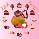 Illustration of teapot Stock Image