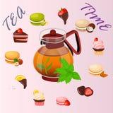 Illustration of teapot Stock Photography
