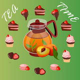 Illustration of teapot Stock Images