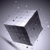 illustration technologique d'abrégé sur le vecteur 3D, connexion Photo stock
