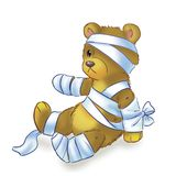 Teddy bear in bandages Royalty Free Stock Photo