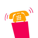 Illustration with telephone callers Stock Images