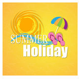 Illustration of template for holiday on sea beach Stock Photos