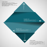 Illustration template of rhombus divided to four parts on light Royalty Free Stock Photography
