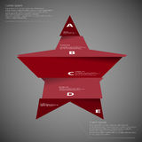 Illustration template of star divided to five parts on dark Stock Image