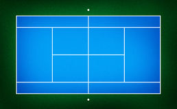 Illustration of tennis court Royalty Free Stock Image