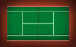 Illustration of tennis court Royalty Free Stock Photos