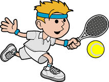 Illustration tennis player Stock Photos
