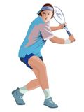 Illustration tennis player Stock Images