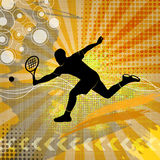 Illustration with tennis silhouette Royalty Free Stock Photos