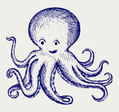 Illustration tentacles octopus Stock Images